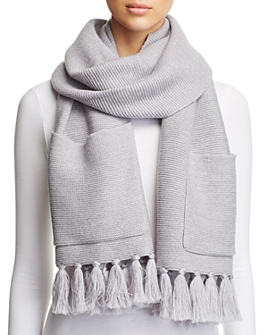 Eileen Fisher Fringe-Trim Pocket Scarf at Bloomingdale's