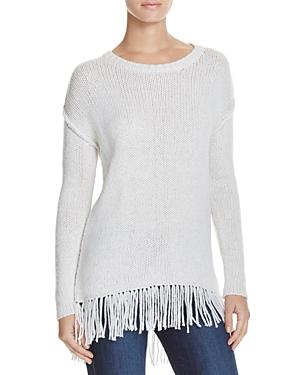 Velvet by Graham & Spencer Asia Fringe Hem Sweater