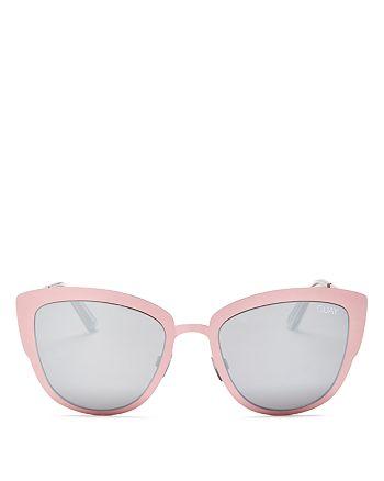 Quay - Women's Supergirl Mirrored Cat Eye Sunglasses, 55mm