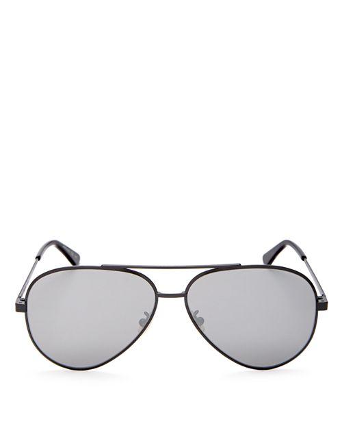 Saint Laurent - Women's Classic Zero Mirrored Aviator Sunglasses, 59mm