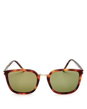 Saint Laurent Square Sunglasses, 52mm