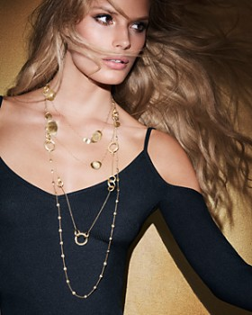 """Marco Bicego - 18K Yellow Gold Lunaria Necklace, 39.25"""""""