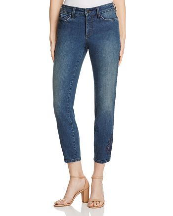 NYDJ - Alina Legging Embroidered Ankle Jeans in Nottingham - 100% Exclusive