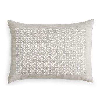 "Vera Wang - Center Embroidery Decorative Pillow, 12"" x 16"""