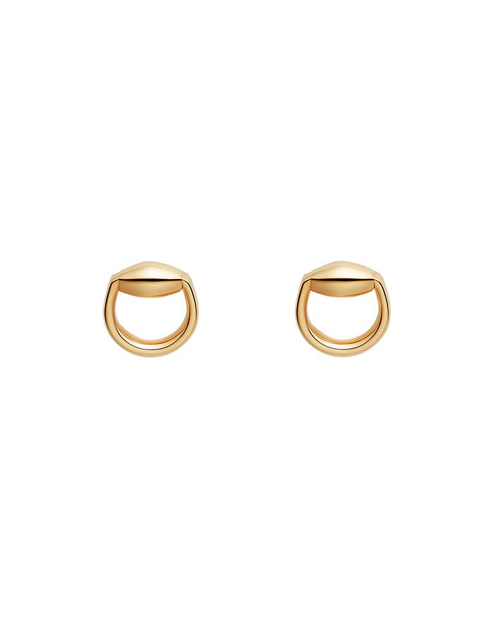 0d801375d Gucci 18K Yellow Gold Horsebit Stud Earrings | Bloomingdale's