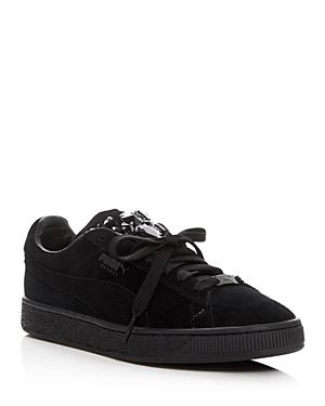 Puma Basket Jeweled Lace Up Sneakers
