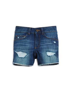 DL1961 Girls' Lucy Distressed Denim Shorts - Big Kid