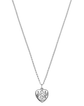Gucci - Sterling Silver Blind for Love Engraved Pendant Necklace, 17""