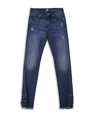 7 For All Mankind Girls' Laced Skinny Jeans - Big Kid 1901608