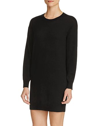 Burberry - Alewater Check Elbow Patch Merino Wool Sweater Dress