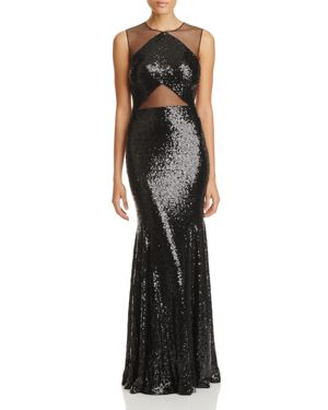 Lm Collection Sequin Mesh Gown