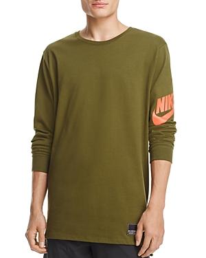 Nike Droptail Long Sleeve Logo Tee