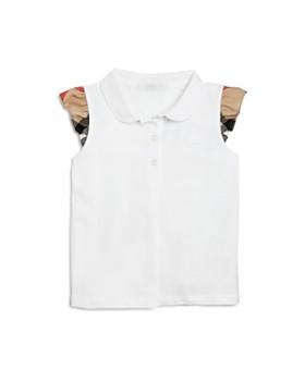 Burberry - Girls' Mini Tia Ruffle Sleeve Polo Shirt - Baby