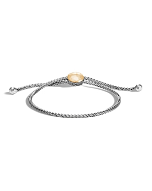 John Hardy Sterling Silver and 18K Bonded Gold Classic Chain Hammered Ball Bracelet