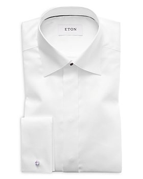 Eton - Slim Fit Diamond Weave Tuxedo Shirt