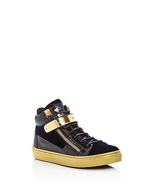 Giuseppe Zanotti Unisex Velvet High Top Sneakers  Toddler Little Kid