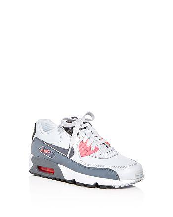 Nike Girls' Air Max 90 LTR Lace Up Sneakers - Big Kid | Bloomingdale's