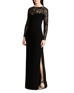 Lauren Ralph Lauren Petites Sequin-Embellished Gown