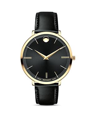 Movado Ultra Slim Watch, 35mm In Black