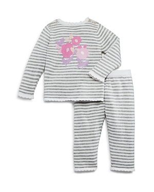 kate spade new york Girl's Floral Intarsia Striped Sweater & Pants Set - Baby
