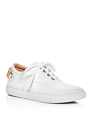 Moschino Logo Charm Lace Up Sneakers
