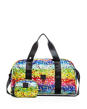 Terez Girls' Rainbow Emoji Collapsible Duffel