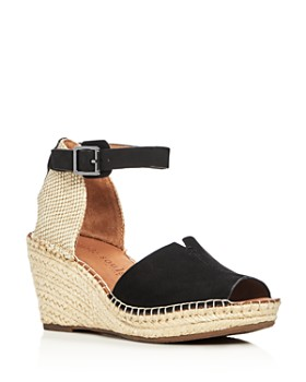 a6828a49ac91 Gentle Souls by Kenneth Cole - Women s Charli Nubuck Leather Ankle Strap  Platform Wedge Sandals ...