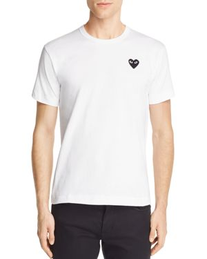 Comme Des Garcons Play Heart Logo Graphic Tee