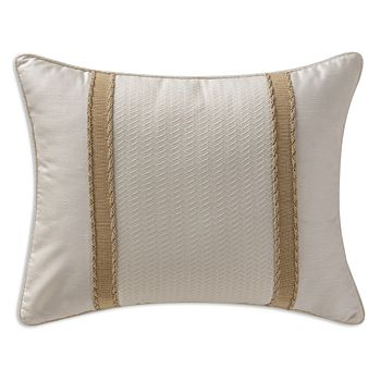 """Waterford - Chantelle Ribbon-Trim Decorative Pillow, 16"""" x 20"""""""