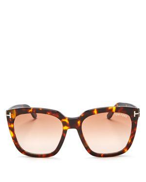 Tom Ford Oversized Square Sunglasses, 55mm