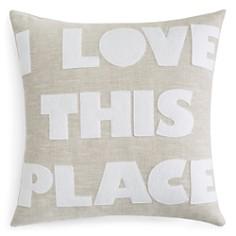 "Alexandra Ferguson - I Love This Place Linen Decorative Pillow, 16"" x 16"""