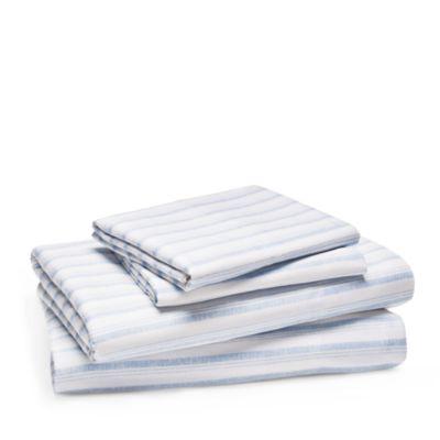 Chambray Stripe Sheet Set, Twin - 100% Exclusive