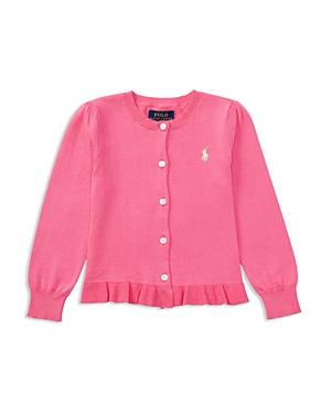 Ralph Lauren Childrenswear Girls' Ruffled Pima Cotton Cardigan - Little Kid
