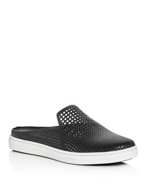Via Spiga Rina Leather Perforated Mule Sneakers