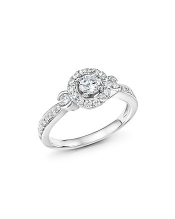 Bloomingdale's - Diamond Halo Engagement Ring in 14K White Gold, .75 ct. t.w.- 100% Exclusive