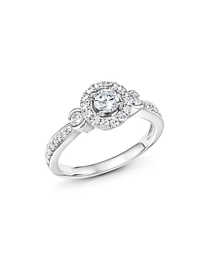 Click here for Diamond Halo Engagement Ring in 14K White Gold  .7... prices