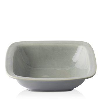 """Juliska - Puro Mist Grey Crackle 12.5"""" Rounded Square Serving Bowl"""