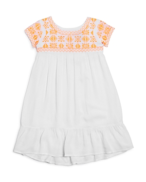 Bloomies Girls Embroidered Yoke Dress Little Kid  100 Exclusive