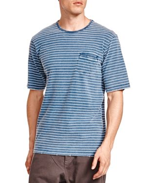 The Kooples Striped Jersey Destroyed Tee thumbnail