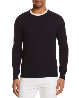 The Men's Store at Bloomingdale's Cotton Blend Crewneck Sweater - 100% Exclusive