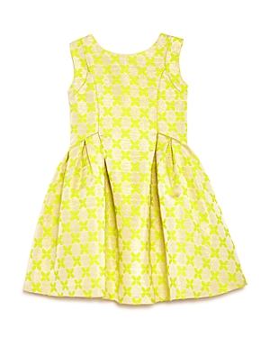 Us Angels Girls' Shimmer Brocade Bow Back Dress - Sizes 2-6X