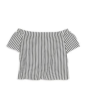 Aqua Girls' Striped Off the Shoulder Top, Big Kid - 100% Exclusive