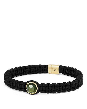 David Yurman - Fortune Woven Bracelet with Moldavite and 18K Yellow Gold