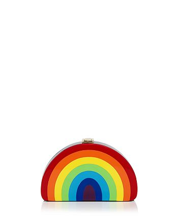MILLY - Rainbow Half Moon Clutch