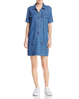 Equipment Knox Lace-Up Denim Dress - 100% Exclusive