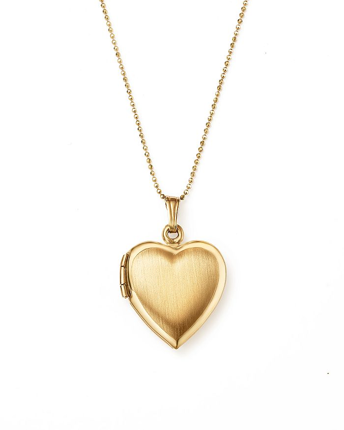 "Bloomingdale's - 14K Yellow Gold Heart Locket Necklace, 22"" - 100% Exclusive"
