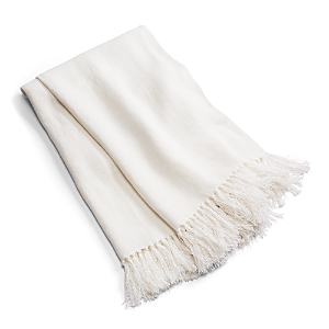 Ralph Lauren Cassis Fringed Linen Throw Blanket
