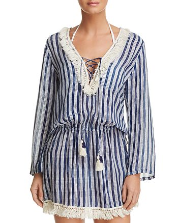 Coolchange - Chloe Fringed Tunic Swim Cover-Up