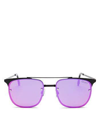 Quay - Women's Private Eyes Mirrored Aviator Sunglasses, 49mm