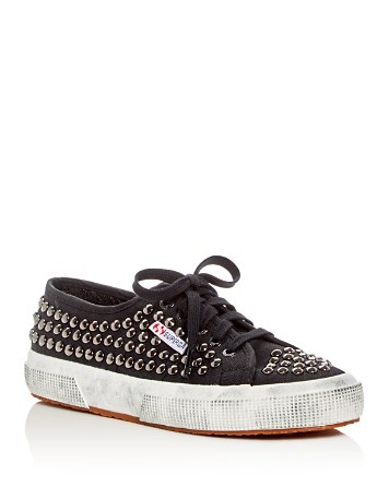 $Superga Cotd Studded Lace Up Sneakers - Bloomingdale's